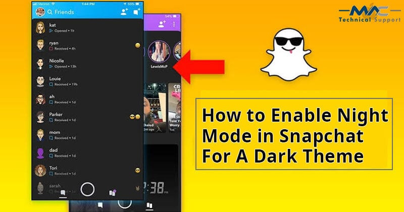 How To Enable Night Mode In Snapchat For A Dark Theme